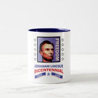 Abe Lincoln - Bicentennial Seal Two-Tone Coffee Mug