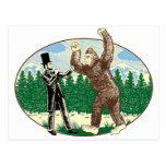ABE LINCOLN: CAZADOR de SASQUATCH - logotipo diver Postal