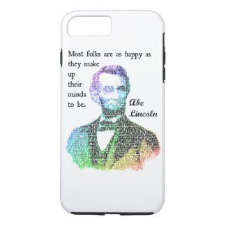 Abe Lincoln Color Quote iPhone 7 Case