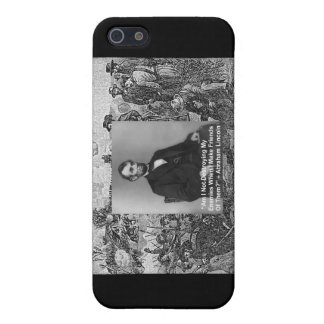 "Abe Lincoln ""Destroy Enemies"" Wisdom Quote Gifts Case For iPhone SE/5/5s"