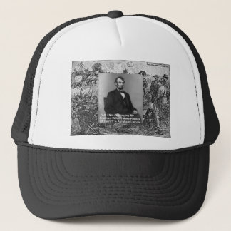 """Abe Lincoln """"Destroy Enemies"""" Wisdom Quote Gifts Trucker Hat"""