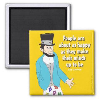 Abe Lincoln dice Imán Cuadrado