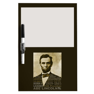 Abe Lincoln Dry-Erase Board