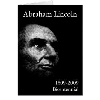 Abe Lincoln - Elegant White on Black Card