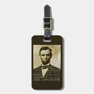Abe Lincoln Etiqueta De Equipaje
