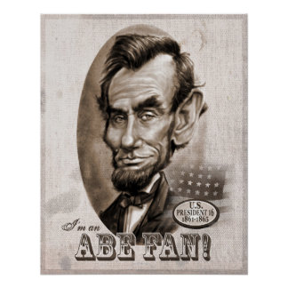 Abe Lincoln Fan Posters