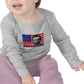 "Abe Lincoln ""Freedom"" Flag Art Gifts--Unique Tshirts"