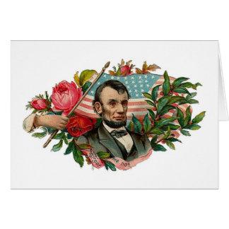 Abe Lincoln Garland Flag Greeting Card