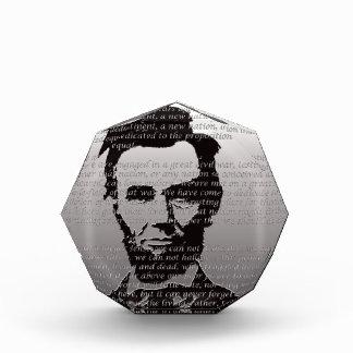 Abe Lincoln Gettysburg Address Acrylic Award