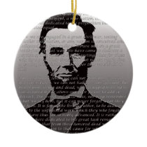 Abe Lincoln Gettysburg Address Ceramic Ornament