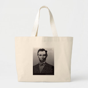 Abe Lincoln Gettysburg Address Large Tote Bag