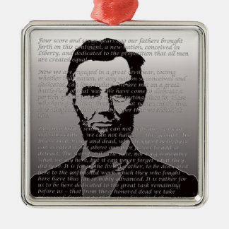 Abe Lincoln Gettysburg Address Metal Ornament