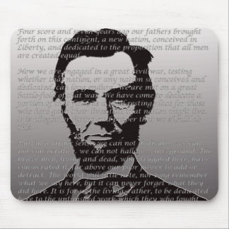 Abe Lincoln Gettysburg Address Mouse Pad