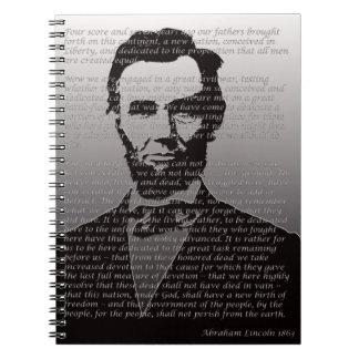 Abe Lincoln Gettysburg Address Notebook