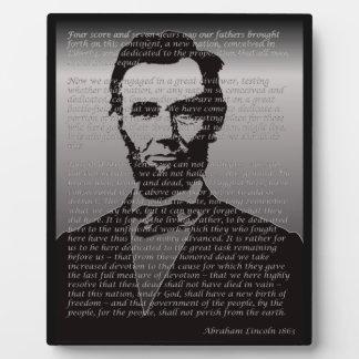 Abe Lincoln Gettysburg Address Plaque