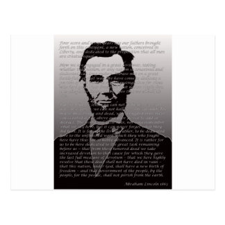 Abe Lincoln Gettysburg Address Postcard