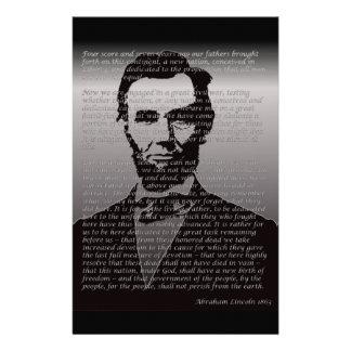 Abe Lincoln Gettysburg Address Stationery