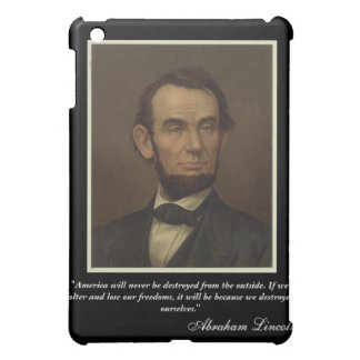 Abe Lincoln iPad Case with Quote
