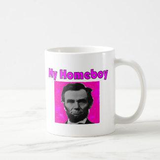 "Abe Lincoln ""My Homeboy"" Artsy T-Shirt & Gifts Coffee Mug"