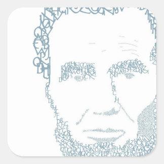 Abe Lincoln Pegatina Cuadrada
