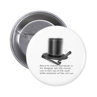 Abe Lincoln Pinback Button