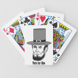 Abe Lincoln poker cards!!! Bicycle Playing Cards
