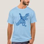 Abe Lincoln que monta una camiseta de T-Rex
