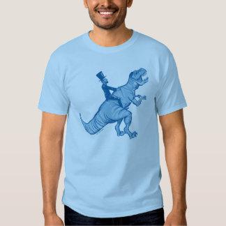 Abe Lincoln que monta una camiseta de T-Rex Polera