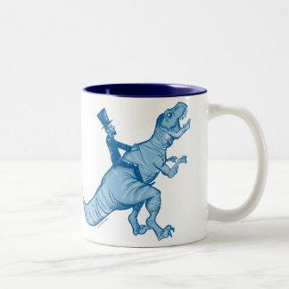 Abe Lincoln que monta una taza de café de T-Rex