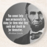 Abe Lincoln Quotation on Entitlements Drink Coaster