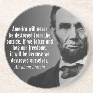 Abe Lincoln Quotation on Freedom Coasters