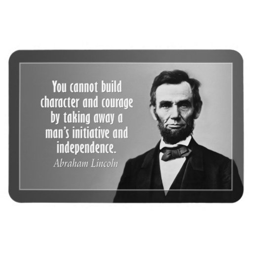 Abe Lincoln Quote On Character Flexible Magnets Zazzle