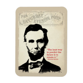 Abe Lincoln Quote Rectangular Photo Magnet