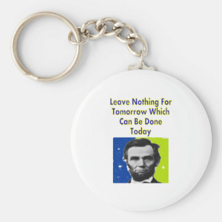 Abe Lincoln Quote T-Shirts & Gifts Keychain