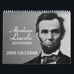 "Abe Lincoln Quotes with photo Calendar<br><div class=""desc"">A year full of some great quotes from President Abraham Lincoln.</div>"