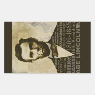 Abe Lincoln Rectangular Sticker