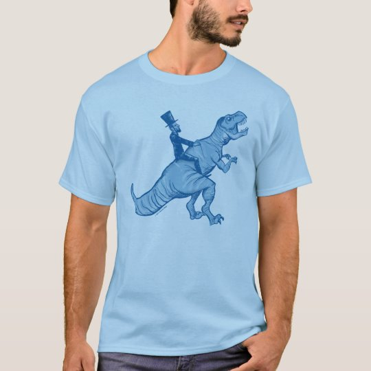 Abe lincoln riding a t rex t shirt for Science olympiad t shirt designs