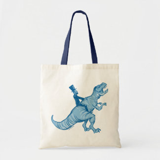 Abe Lincoln Riding A T-Rex Tote Bag