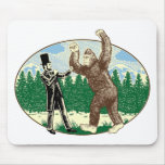 ABE LINCOLN: SASQUATCH HUNTER - Funny Bigfoot Logo Mouse Pad