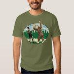 ABE LINCOLN: SASQUATCH HUNTER - Funny Bigfoot Logo Shirt