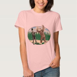 ABE LINCOLN: SASQUATCH HUNTER - Funny Bigfoot Logo Shirts
