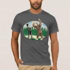 ABE LINCOLN: SASQUATCH HUNTER - Funny Bigfoot Logo T-Shirt