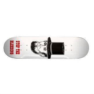 Abe Lincoln skateboard. Stop the bleeding! Skateboard