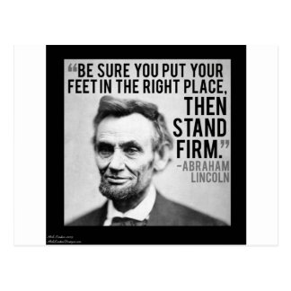 "Abe Lincoln & ""Stand Firm"" Quote Postcard"