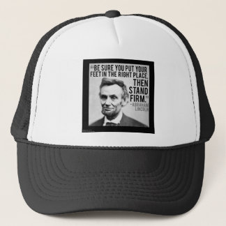 """Abe Lincoln & """"Stand Firm"""" Quote Trucker Hat"""