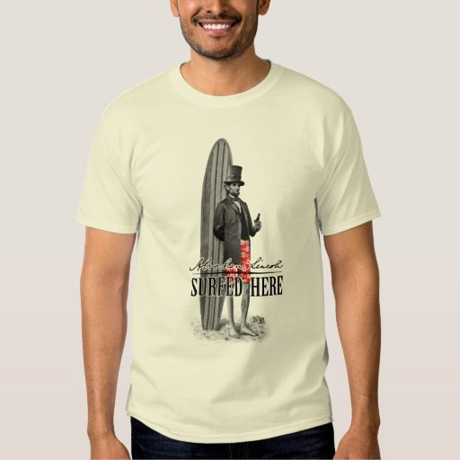 Abe lincoln surfer t shirt zazzle for T shirt printing lincoln