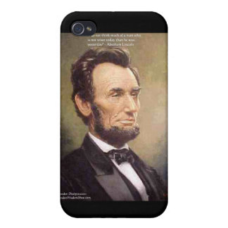 "Abe Lincoln ""Wiser"" Quote Gifts Cards Etc Case For iPhone 4"