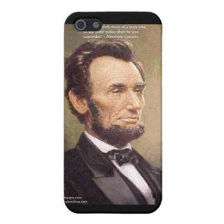 "Abe Lincoln ""Wiser"" Quote Gifts Tees Cards Etc Case For iPhone SE/5/5s"