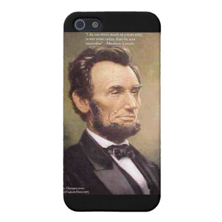 "Abe Lincoln ""Wiser"" Quote Gifts Tees Cards Etc iPhone SE/5/5s Case"