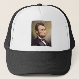 """Abe Lincoln """"Wiser"""" Quote Gifts Tees Cards Etc Trucker Hat"""